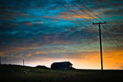 Old House Photo Metal Prints - The old barn under an April sky Metal Print by Constance Fein Harding