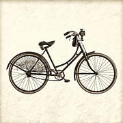 Velo Prints - The Old Bike - Sepia Print by Martin Bergsma