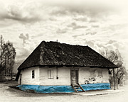 The  Old Blue House -1342  Print by Dorin Stef