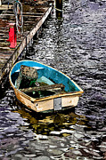 The Old Boat Paint Effect Image Print by Tom Prendergast