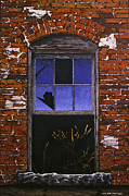 Egg Tempera Painting Prints - The Old Brick Mill Window Print by Peter Muzyka