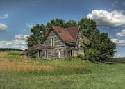 Abandoned Farm House Posters - The Old Buzzard House Poster by Pamela Baker
