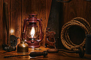 Kerosene Lamp Photos - The Old Carpentry Workshop by Olivier Le Queinec