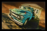 Blake Richards Framed Prints - The Old Chevy Max And House Framed Print by Blake Richards
