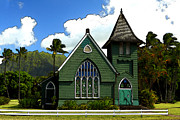 Historical Digital Art - The Old Church In Hanalei by James Eddy