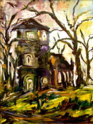 The Old Church Print by Michelle Dommer