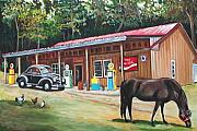 Country Store Painting Framed Prints - The Old Country Store Framed Print by Eve  Wheeler