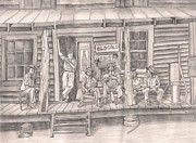 Country Store Drawings Framed Prints - The Old County Store Framed Print by Beverly Marshall