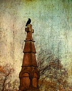 Goth Posters - The Old Cross Poster by Gothicolors With Crows