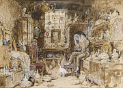 Myles Birket Foster Prints - The Old Curiosity Shop Print by Myles Birket Foster