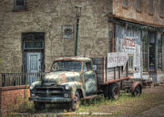 Old Chevy Truck Prints - The Old Delphos Truck Print by Pamela Baker