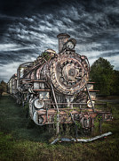 Bryant Art - The Old Depot Train by Brenda Bryant