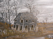 Farm Buildings Painting Originals - The Old Farm House by Brian Peterson