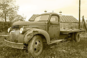 John Debar Art - The Old Farm Truck by John Debar