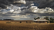 Farm Art - The Old Farmstead by Leah Kennedy