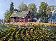 Green Beans Paintings - The Old Farmstead by Rick Hansen