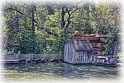 Angling Framed Prints - The Old Fishing Shack Framed Print by Lee Dos Santos