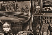 Ford Model T Car Posters - The Old Ford Poster by JC Findley