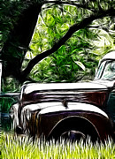 White Walls Framed Prints - The Old Ford Truck Framed Print by Steve McKinzie