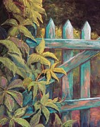 Plants Pastels Prints - The Old Gate Print by Candy Mayer