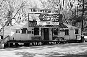 Sleeping Dogs Photo Prints - The Old General Store bw Print by Mel Steinhauer