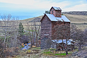 Old Cabins Framed Prints - The Old Grain Storage Framed Print by Steve McKinzie