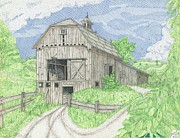 Shed Drawings Framed Prints - The Old Gray Barn Framed Print by Calvert Koerber