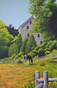 Grist Mill Paintings - The Old Grist Mill by Dave Hasler