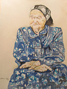 Watercolorist Painting Originals - The Old Holocaust Survivor by Esther Newman-Cohen