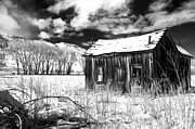 Black Clouds Prints - The Old Homestead Print by Cat Connor