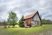 Gary Heller Metal Prints - The Old homestead - Farmhouse Metal Print by Gary Heller