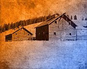 Outbuildings Digital Art Prints - The Old Homestead Print by Fran Riley