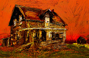Rural Decay  Mixed Media - The Old Homestead by Jim Vance