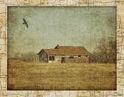 Old Map Digital Art Acrylic Prints - The Old Homestead Acrylic Print by Judy Wood