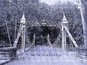 Iron Bridges Prints - The Old Iron Bridge Print by Penny McClintock