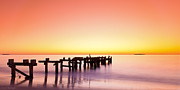 Western Australia Prints - The Old Jetty Print by Leah Kennedy