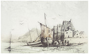 Claude Drawings - The Old Le Pollet by Claude Monet