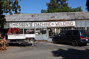 Pleasanton Framed Prints - The Old Machine and Welding Shop Pleasanton California 5D23980 Framed Print by Wingsdomain Art and Photography