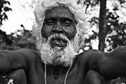 Pallab Banerjee Art - The old man monochrome by Pallab Banerjee