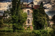 Fine_art Metal Prints - The Old Manor Metal Print by Marco Oliveira