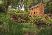 Jason Politte Prints - The Old Mill and Pond Print by Jason Politte