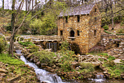 Old Mills Framed Prints - The Old Mill and the Waterfall Framed Print by Jason Politte