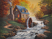 Grist Paintings - The Old Mill by Gary Adams
