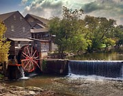 Gatlinburg Posters - The Old Mill Poster by Janice Spivey