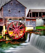 Pigeon Forge Photos - The Old Mill by Mark Bowmer