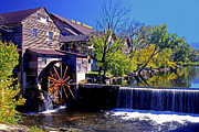 Grist Mill Prints - The Old Mill Print by Paul W Faust -  Impressions of Light
