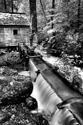 Grist Mill Prints - The Old Mill Trough  Print by Paul W Faust -  Impressions of Light