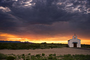 Scenic Prints - The Old Mission Chapel Print by Aaron S Bedell