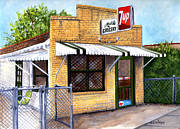 Brick Paintings - The Old Neighborhood Grocery by Elaine Hodges