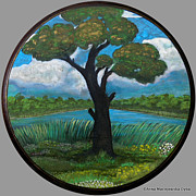 Folkartanna Paintings - The Old Oak Tree by Anna Folkartanna Maciejewska-Dyba